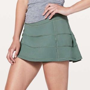 Lululemon Pace Rival Skirt Juniper Green 10 Reg